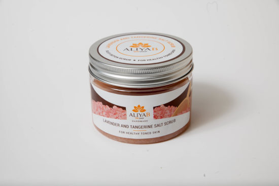 Lavender and Tangerine Salt Scrub